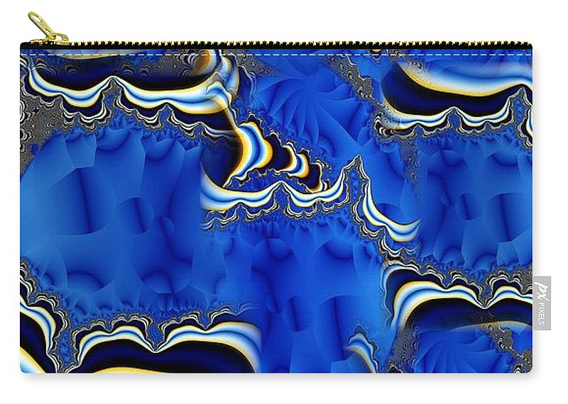 Blue Chifon Carry-all Pouch featuring the digital art Blue Chifon by Ron Bissett
