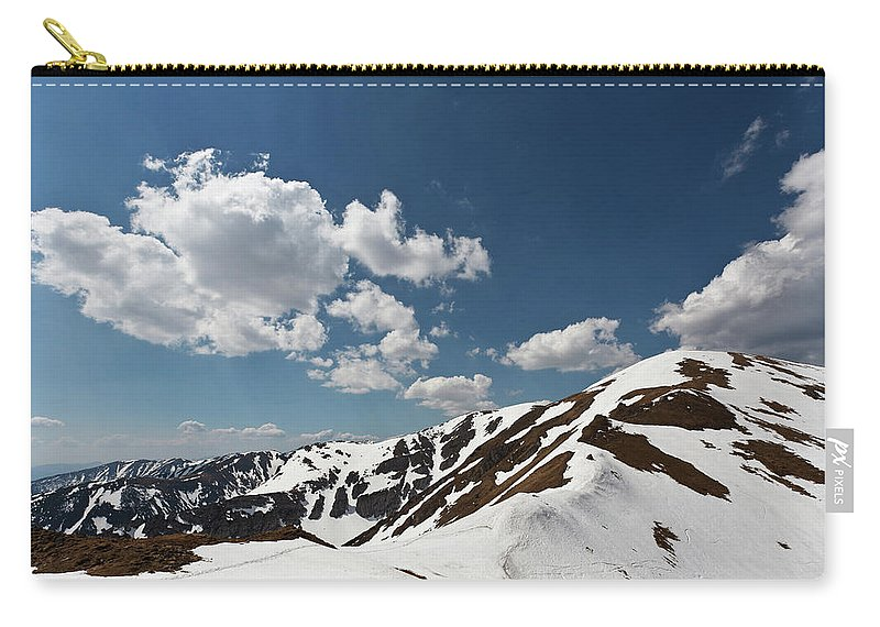 Hiking Carry-all Pouch featuring the photograph Blue Cloudy Sky Over Spring Tatra Mountains, Poland, Europe by Lukasz Szczepanski