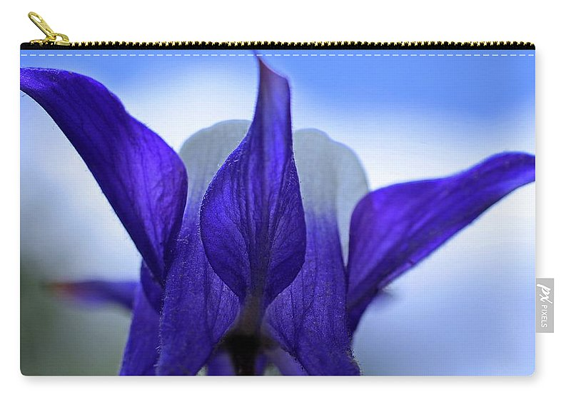 Columbine Carry-all Pouch featuring the photograph Blue Columbine I by Michiale Schneider