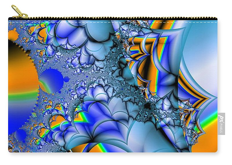Blue Carry-all Pouch featuring the digital art Blue Complimentary by Ron Bissett