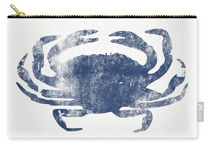 Cape Cod Carry-all Pouch featuring the painting Blue Crab- Art by Linda Woods by Linda Woods