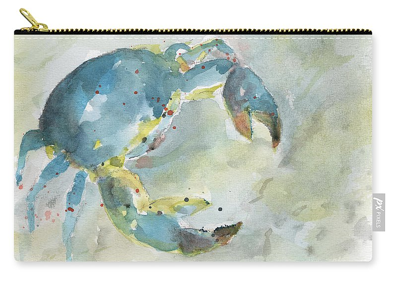 Carry-all Pouch featuring the painting Blue Crab. by Christine Munch