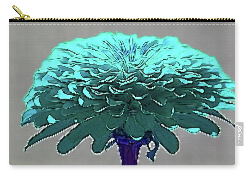 Flower Art Carry-all Pouch featuring the photograph Blue Crown by Dennis Baswell