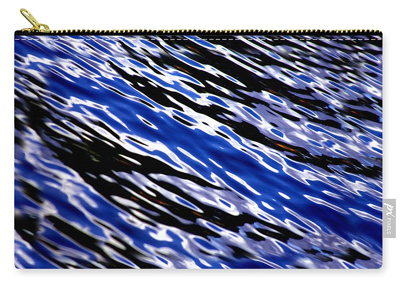 Water Carry-all Pouch featuring the photograph Blue Current by Donna Blackhall