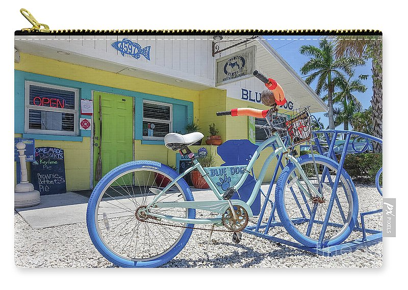 Florida Carry-all Pouch featuring the photograph Blue Dog Matlacha Island Florida by Edward Fielding