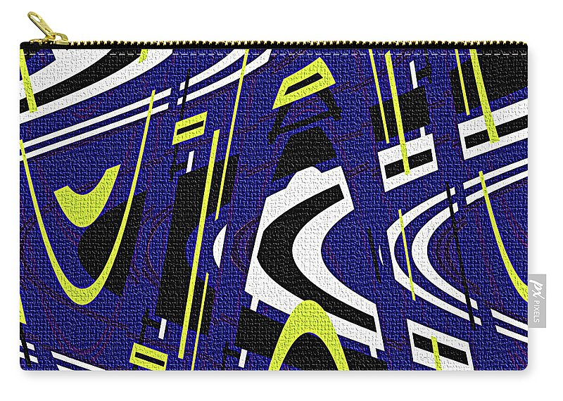 Blue Drawing Abstract Carry-all Pouch featuring the photograph Blue Drawing Abstract by Tom Janca