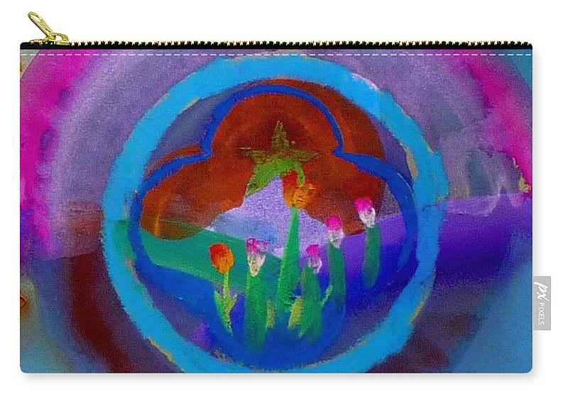 Love Carry-all Pouch featuring the painting Blue Embrace by Charles Stuart