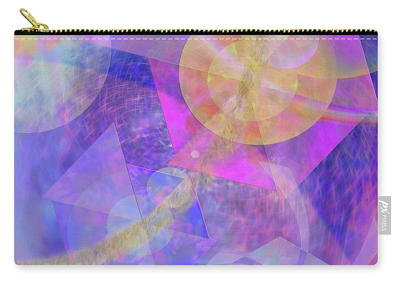 Blue Expectations Carry-all Pouch featuring the digital art Blue Expectations by John Beck