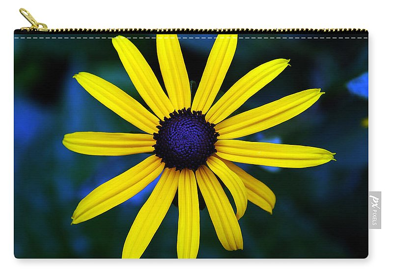 Blue Eyes Carry-all Pouch featuring the photograph Blue Eyes by Susanne Van Hulst