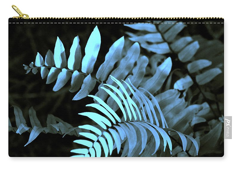 Abstract Carry-all Pouch featuring the photograph Blue Fern by Susanne Van Hulst
