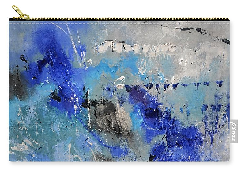 Abstract Carry-all Pouch featuring the painting Blue Flight Abstract by Pol Ledent