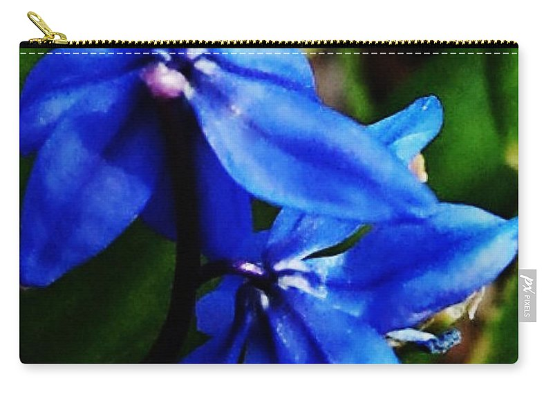 Digital Photo Carry-all Pouch featuring the photograph Blue Floral by David Lane