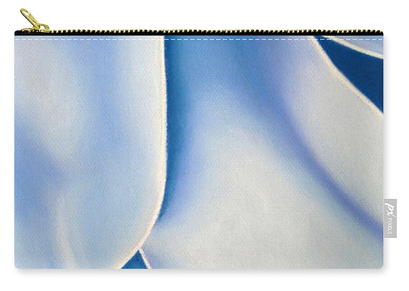 Flowers Carry-all Pouch featuring the drawing Blue Flower by Joshua Morton