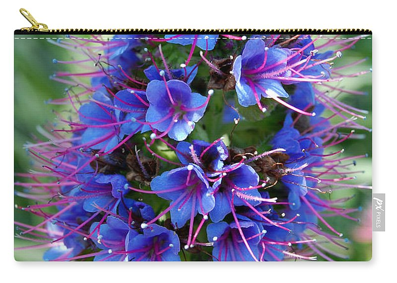 Flower Carry-all Pouch featuring the photograph Blue Flowers by Amy Fose