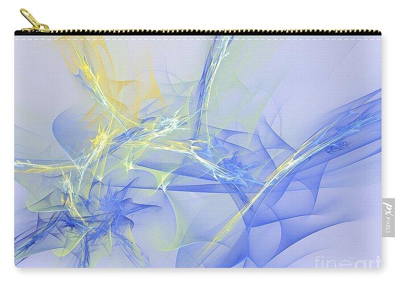 Apophysis Carry-all Pouch featuring the digital art Blue For You by Deborah Benoit