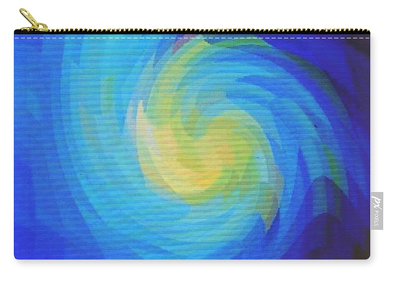 Blue Carry-all Pouch featuring the digital art Blue Galaxy by Ian MacDonald