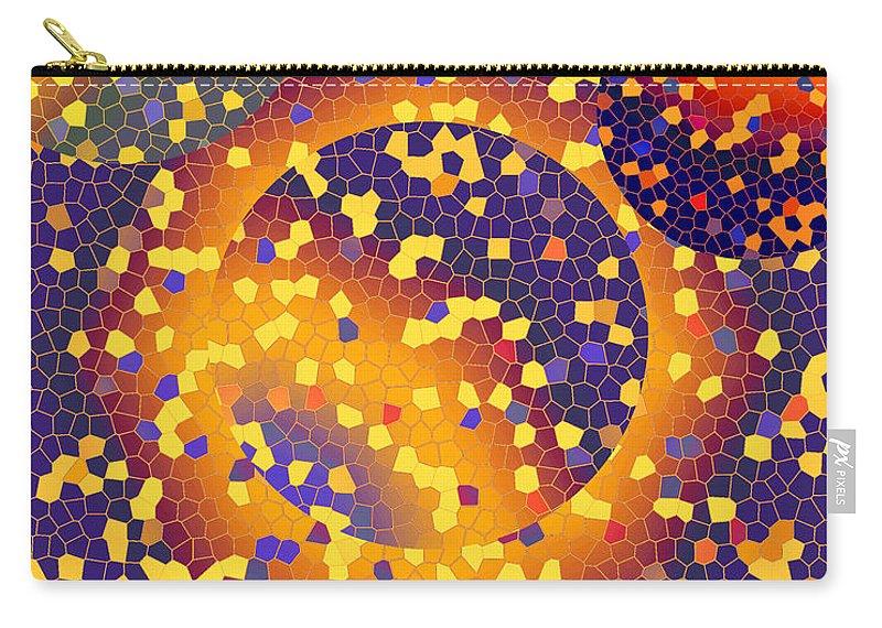 Abstract Carry-all Pouch featuring the digital art Blue Galaxy by Lynda Lehmann