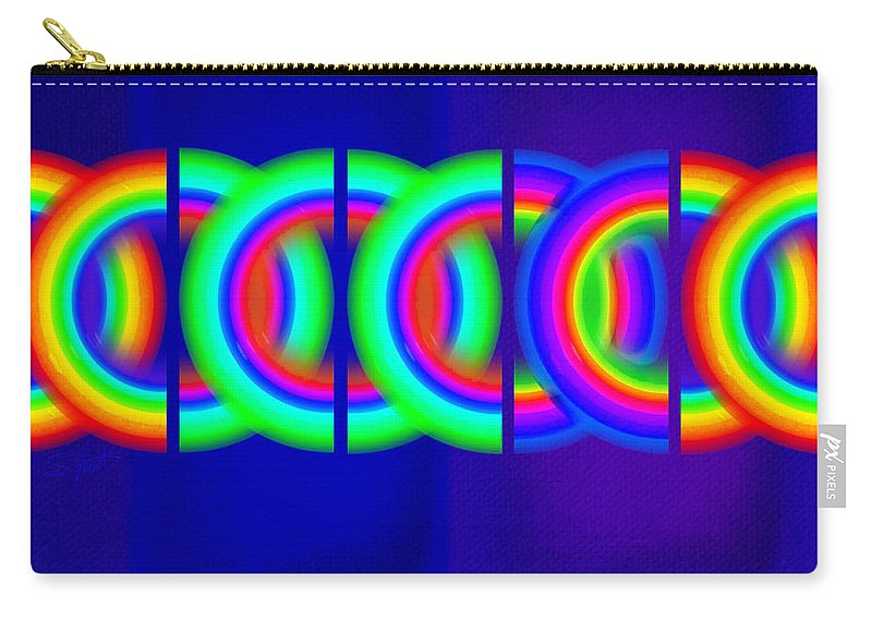 Abstract Carry-all Pouch featuring the painting Blue Games by Charles Stuart