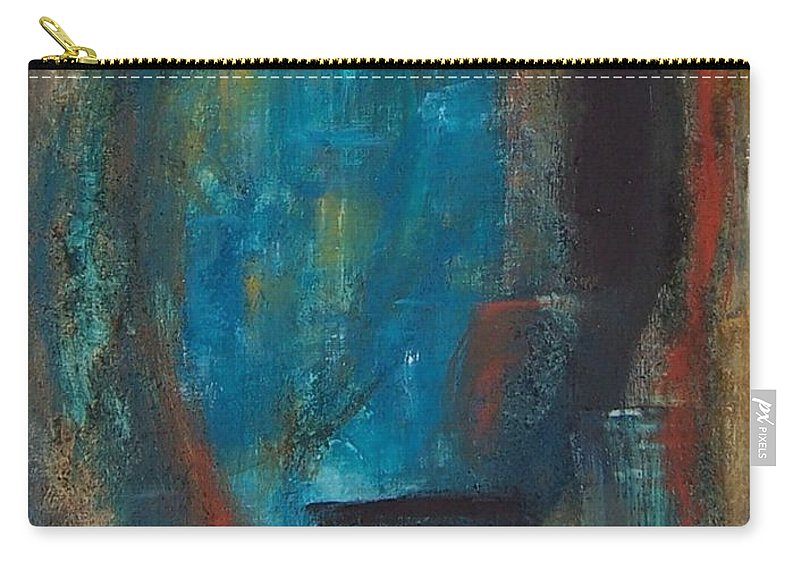 Abstract Carry-all Pouch featuring the painting Blue Grotto by Karen Day-Vath