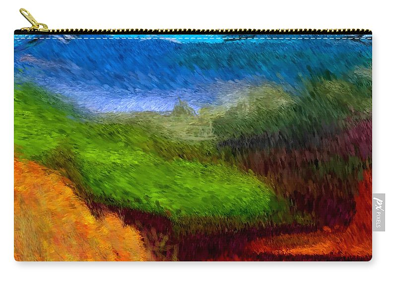 Digital Painting Carry-all Pouch featuring the digital art Blue Hills by David Lane