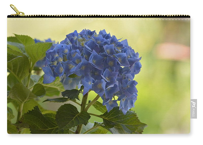 Blue Hydrangea Carry-all Pouch featuring the photograph Blue Hydrangea by Shelley Smith