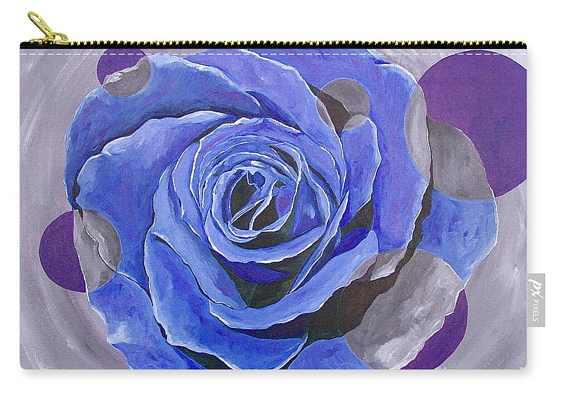 Acrylic Carry-all Pouch featuring the painting Blue Ice by Herschel Fall