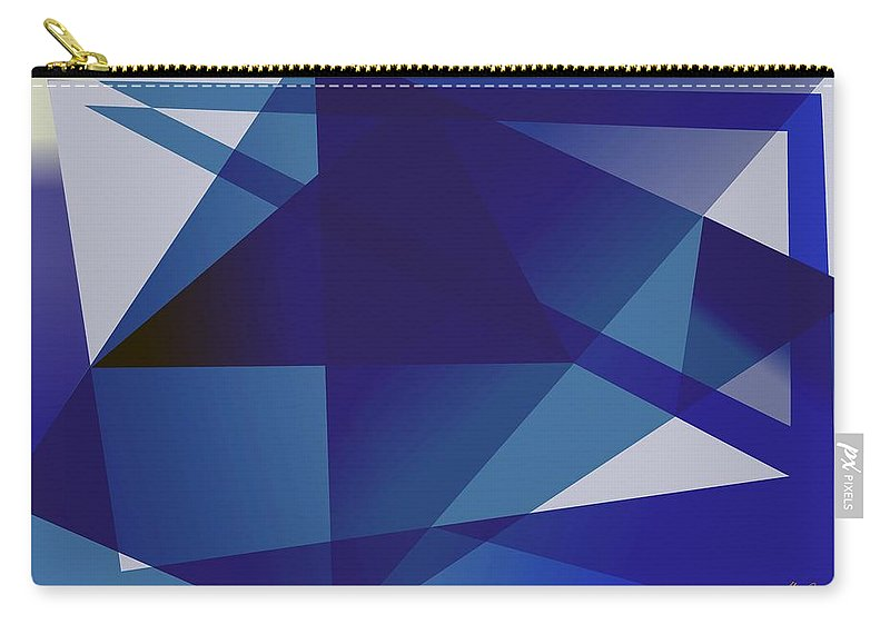 Blue Carry-all Pouch featuring the digital art Blue In Blue by Helmut Rottler
