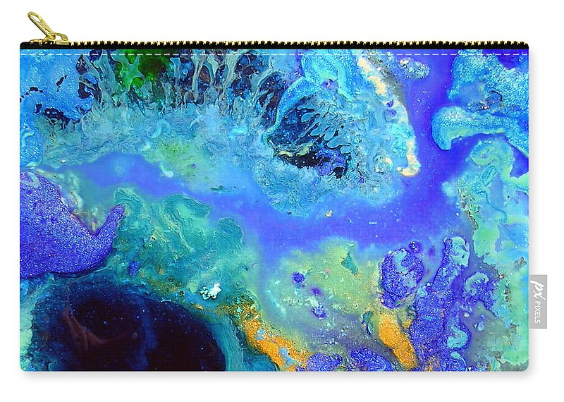 Blue Isles Carry-all Pouch featuring the painting Blue Isles by Dawn Hough Sebaugh