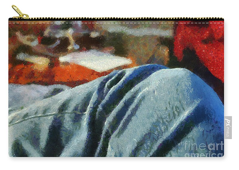 Painting Carry-all Pouch featuring the painting Blue Jean Morning by Paulette B Wright
