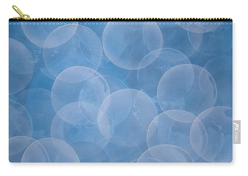 Abstract Carry-all Pouch featuring the painting Blue by Jitka Anlaufova