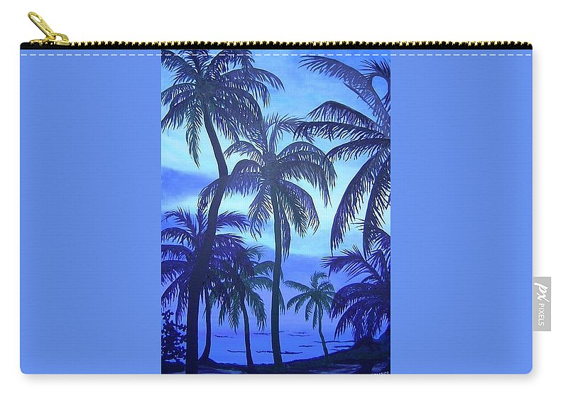 Belize Carry-all Pouch featuring the painting Blue Lagoon by Esther Gordon
