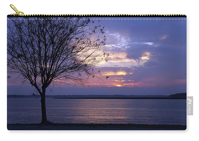 Photographs Carry-all Pouch featuring the photograph Blue Light by Phill Doherty