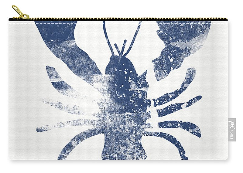 Cape Cod Carry-all Pouch featuring the painting Blue Lobster- Art by Linda Woods by Linda Woods
