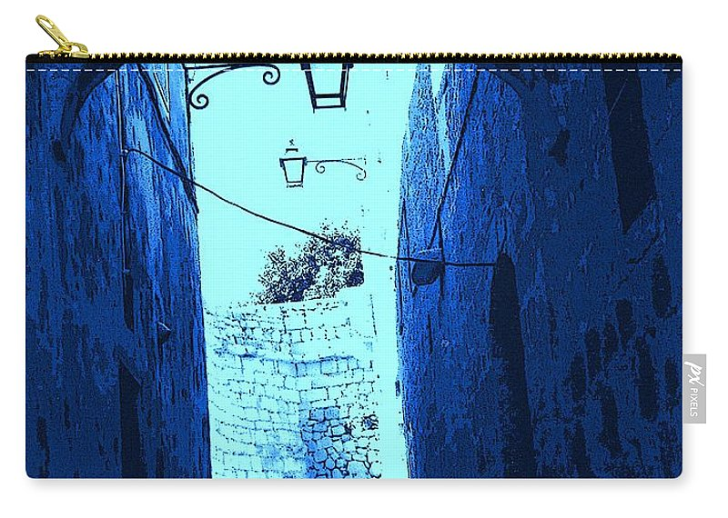 Blue Carry-all Pouch featuring the photograph Blue Maltese Arch by Ian MacDonald