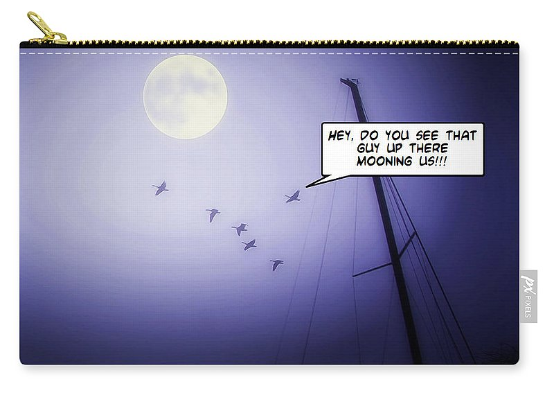 2d Carry-all Pouch featuring the photograph Blue Moon by Brian Wallace