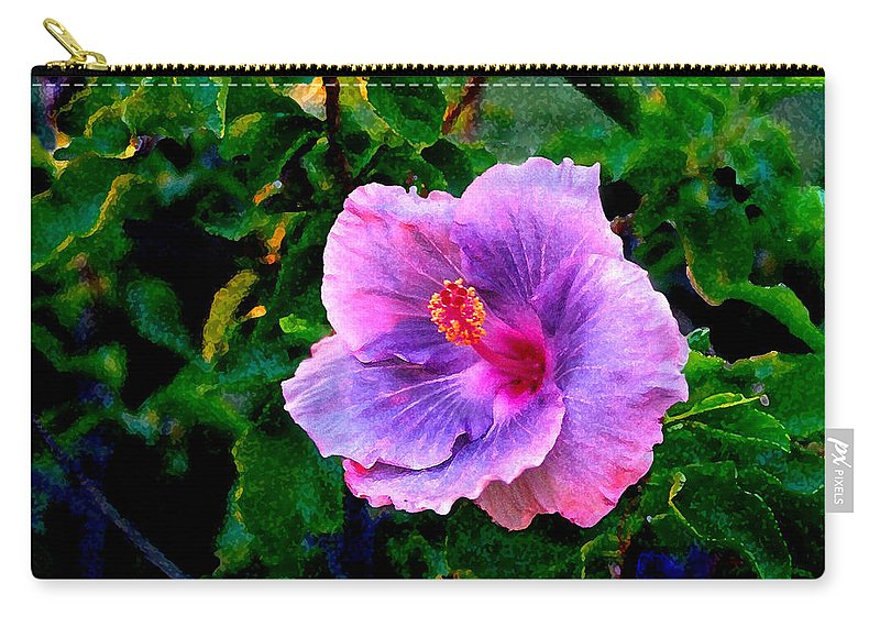 Flower Carry-all Pouch featuring the photograph Blue Moon Hibiscus by Steve Karol
