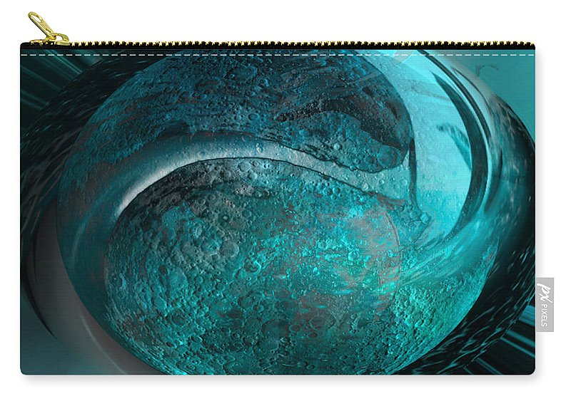 Moon Carry-all Pouch featuring the digital art Blue Moon by Kevin Caudill