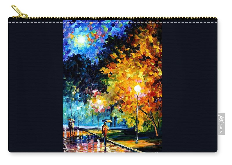 Afremov Carry-all Pouch featuring the painting Blue Moon by Leonid Afremov