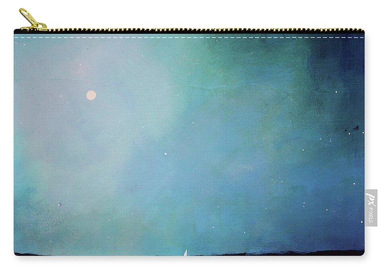 Seascape Carry-all Pouch featuring the painting Blue Night Sky by Toni Grote