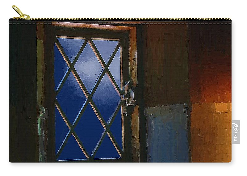 Window Carry-all Pouch featuring the painting Blue Night Through Casement by RC DeWinter