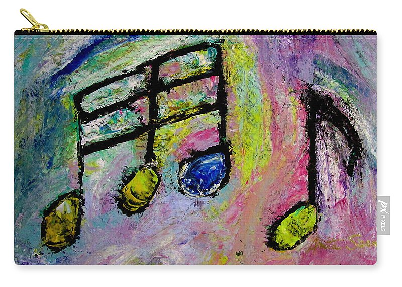 Impressionist Carry-all Pouch featuring the painting Blue Note by Anita Burgermeister