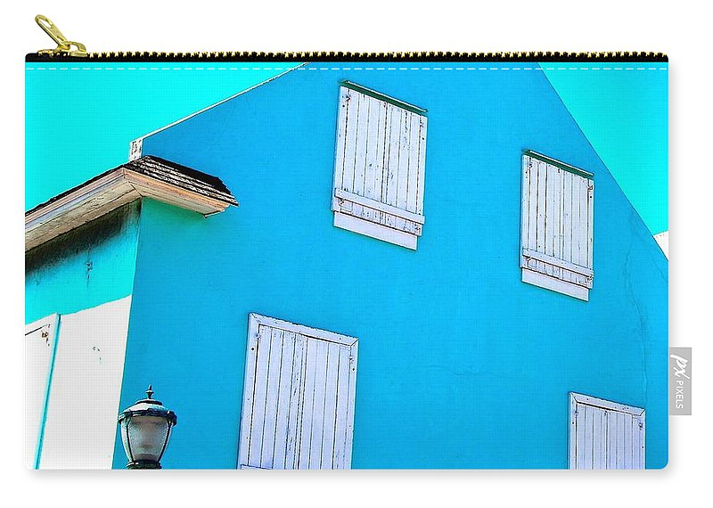 Bahamas Carry-all Pouch featuring the photograph Blue On Blue by David Coleman