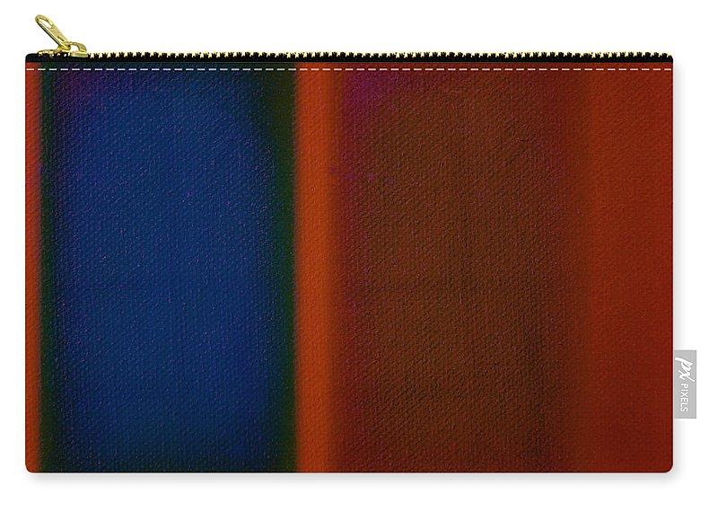 Rothko Carry-all Pouch featuring the painting Blue On Orange by Charles Stuart