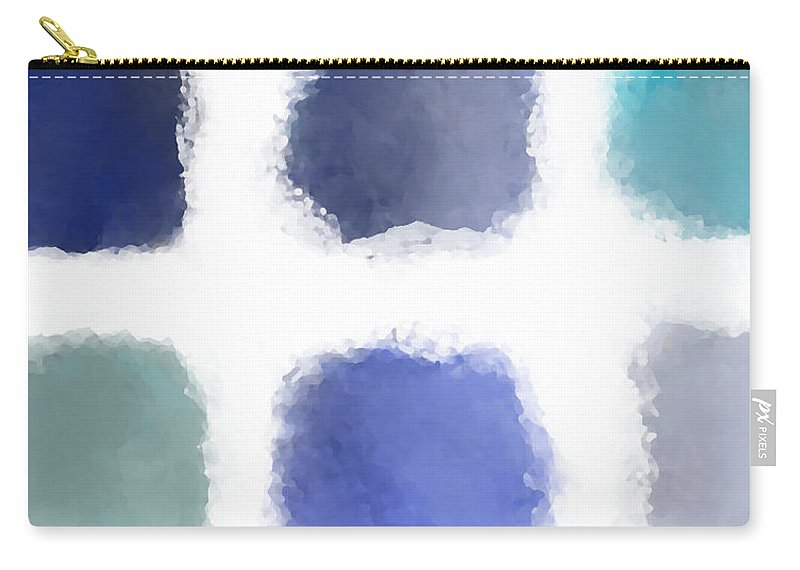 Blue Carry-all Pouch featuring the digital art Blue Palette, No.1 by Elegant and Coastal