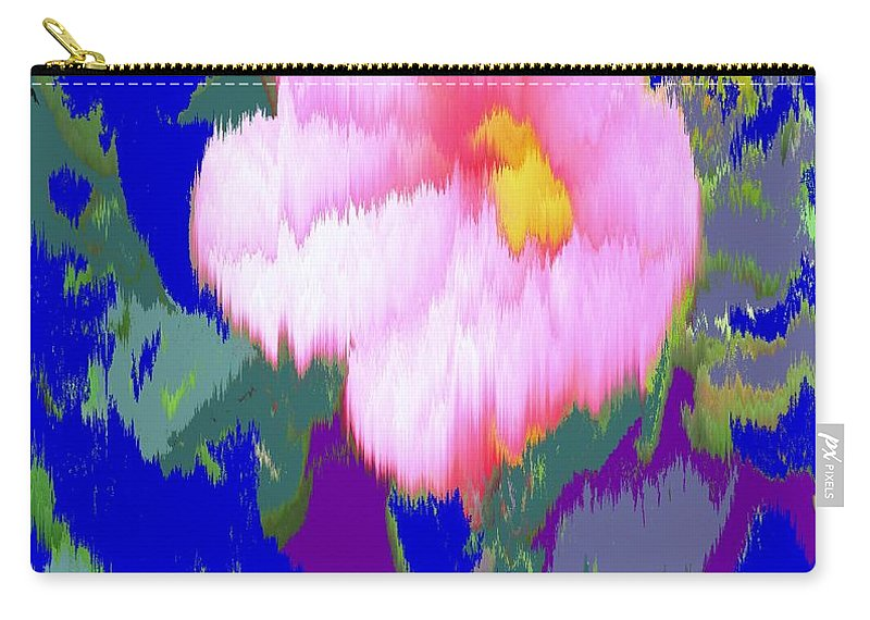 Flower Carry-all Pouch featuring the photograph Blue Pink by Ian MacDonald