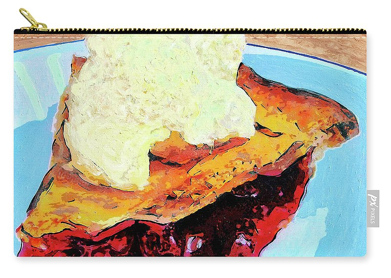 Cherry Pie Carry-all Pouch featuring the painting Blue Plate Special by Dominic Piperata