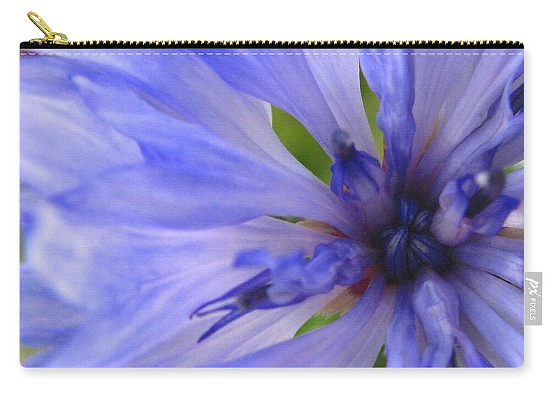 Flower Carry-all Pouch featuring the photograph Blue Princess by Rhonda Barrett