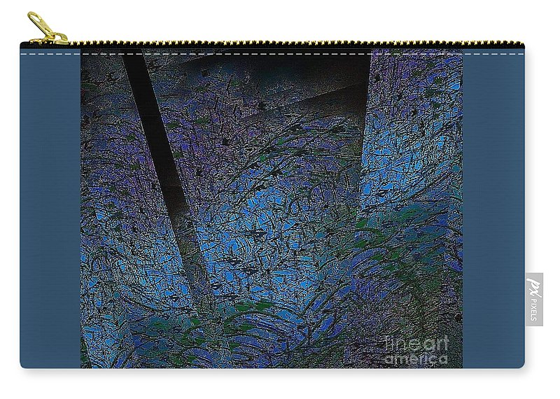 Abstract Carry-all Pouch featuring the digital art Blue Reflection by Cooky Goldblatt