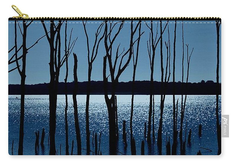 Nature Landscapes Carry-all Pouch featuring the photograph Blue Reservoir - Manasquan Reservoir by Angie Tirado
