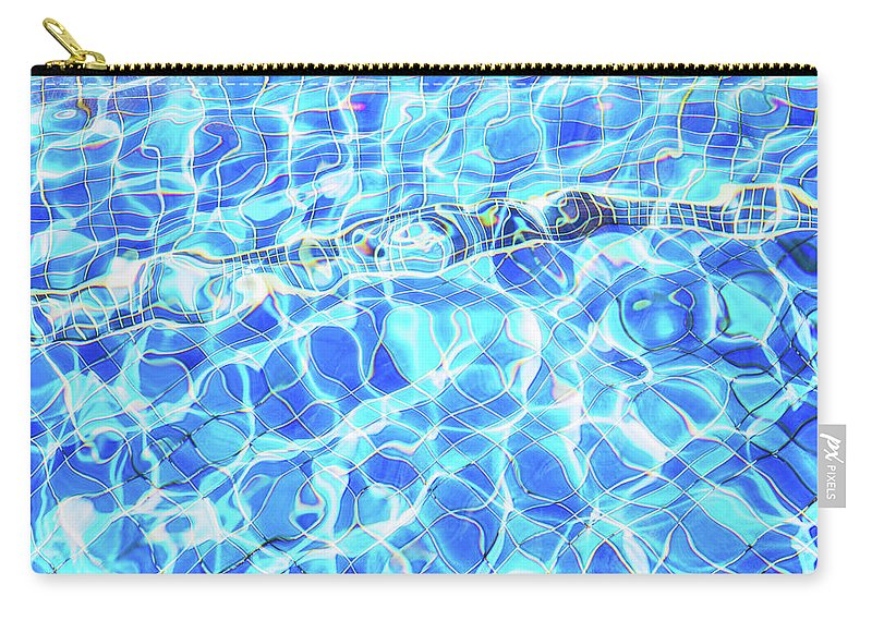 Elena Seychelles Carry-all Pouch featuring the photograph Blue Rhapsody by Elena Seychelles